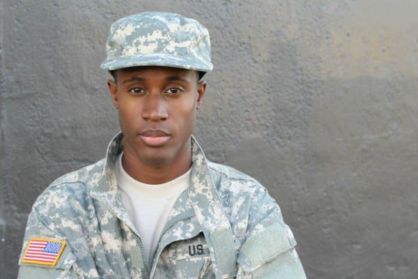 Black soldier in uniform